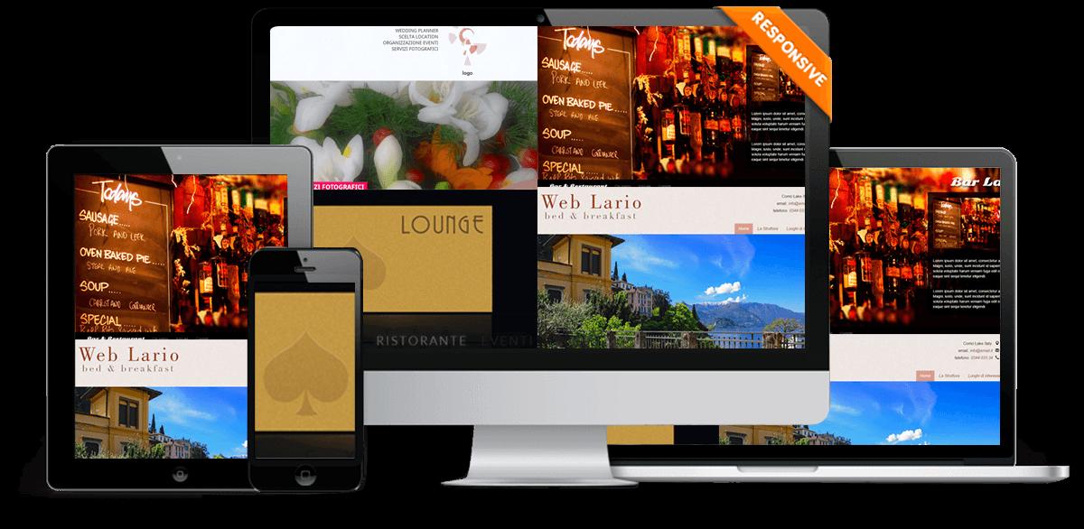 Creazione sito web responsive, su misura, per bar, pub, caffe, hotel, studio
