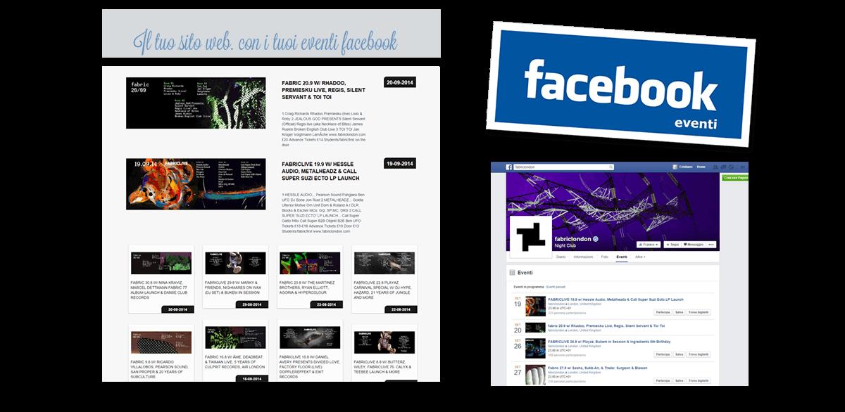 eventi facebook direttamente sul tuo sito web